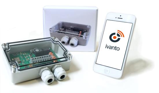 Bild der ivanto App und der BusAccess Bluetooth Hardware